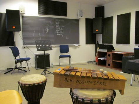 Taking a peek around the classrooms in the music department :)
