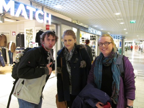 Shoppers! Tim from Belgium, Emma from Dundalk IT and myself :)