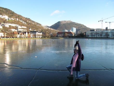 Yoga on a frozen lake! ;)