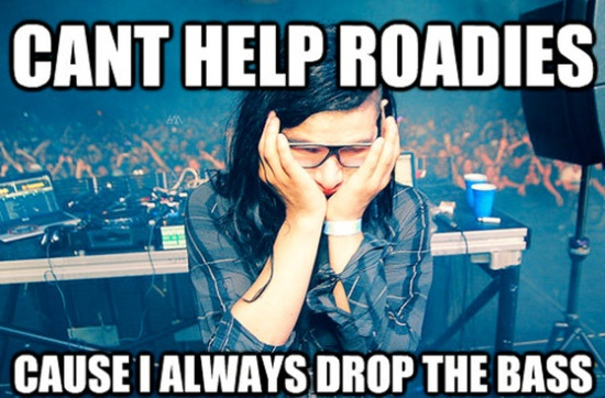 "My favourite ""drop"" meme...young master Skrillex :)"