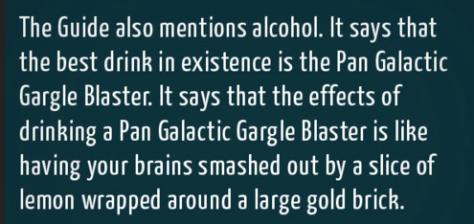 Tag Archives: Pan Galactic Gargle Blaster