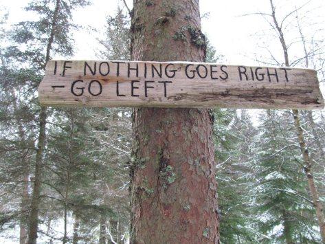 Random sign on my long walk through a Norwegian wood ;)