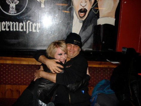 The biggest and best hug of my life! Myself and Blaze in Fibbers, Dublin 2010