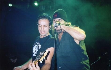 Blaze and guitarist Luca Princiotta, 2004