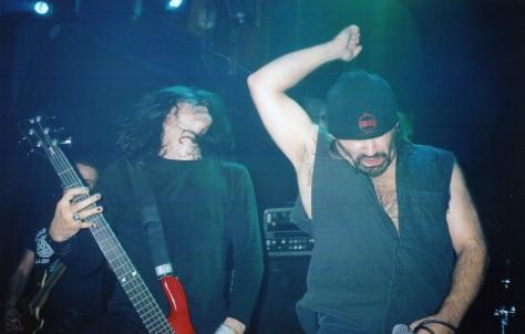 Nick Douglas and Blaze Bayley metal moment, the Village 2004
