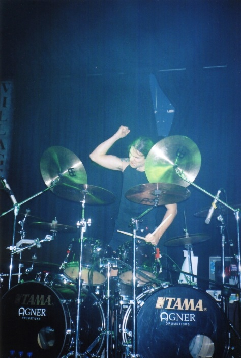 Drummer Daniel Löble after his jaw dropping drum solo