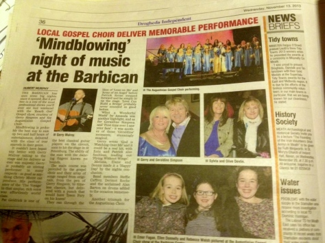 Great review in the Drogheda Independent by Hubert Murphy.