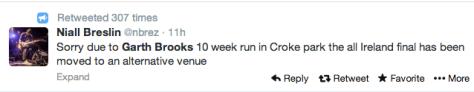 Musician Niall Breslin tweet