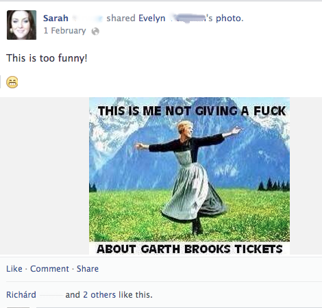 Annoyance: another screen shot from my Facebook feed.